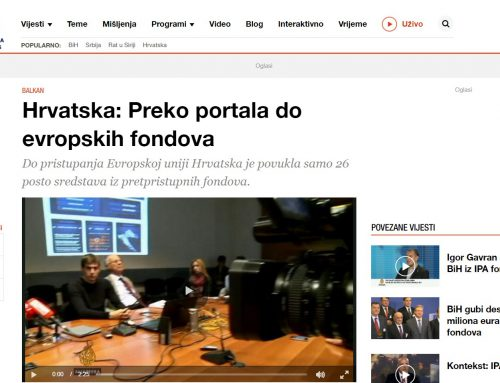 Al Jazeera (November 2013): Croatia – reaching European funds through a portal
