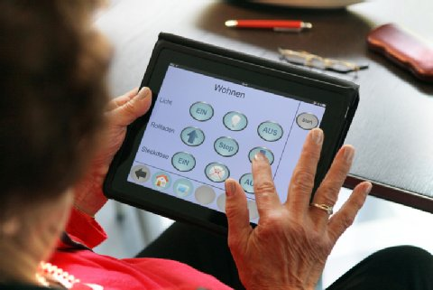 Example of an ambient assisted living (AAL) system for improving daily life at home for elderly people (photo: Cibek)