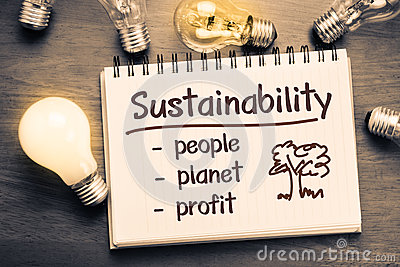 Three pillars of sustainability – People, Planet, Profit